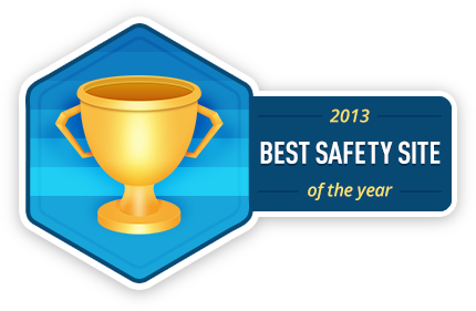 SecurityChoice.com Best Safety Site of the Year Badge